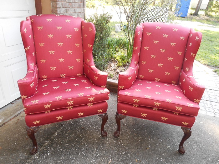 Ladd Upholstery Designs - Gainesville and Lake City Fl - Wing Chairs